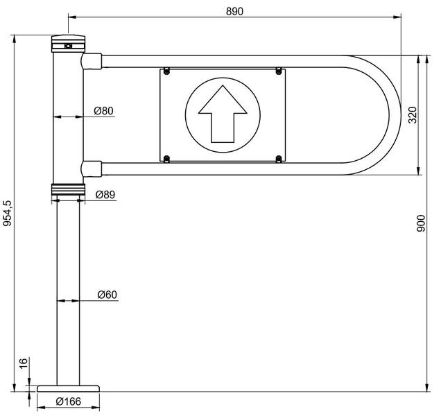 Ворітця механічні та електромеханічні ФОРМА™ «МК-3.0»